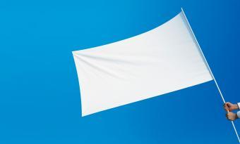 Holding a white flag