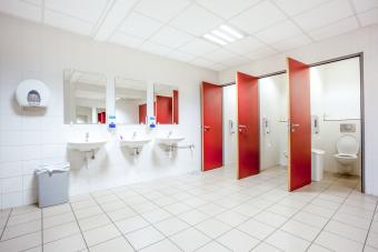 Doors from toilet stalls