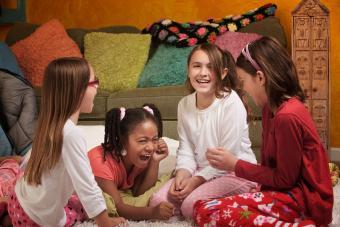 Little girls laughing