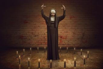Scary Nun with candles