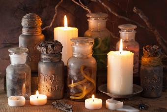 Candles and jars