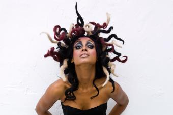Wacky Medusa hairstyle