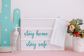 Say home , stay safe quote