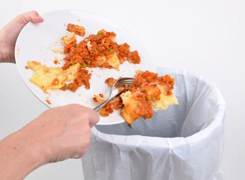Throwing out food