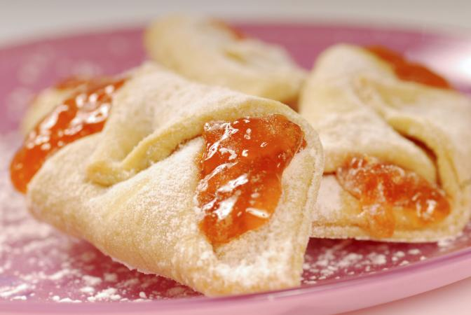 Kolache with apricot filling
