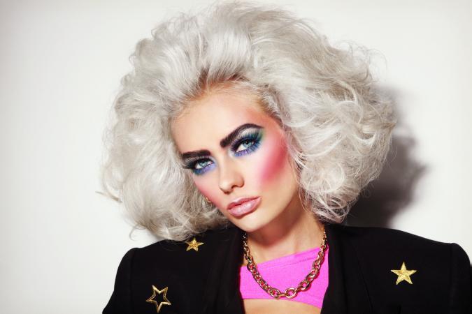 80s glam makeup