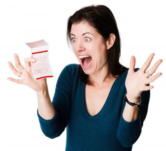 Excited woman won the lottery
