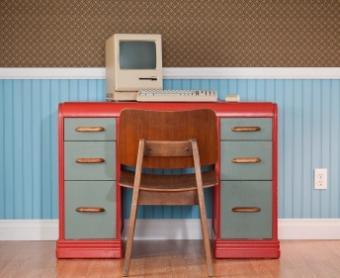 Small 1950s desk
