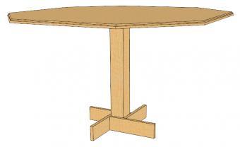 octagonal table plan