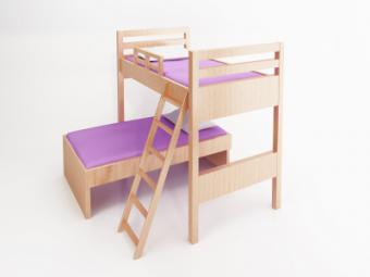 l-shaped twin bunk bed