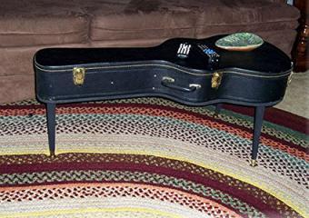 Guitar case coffee table by MrsRekamepip on Etsy