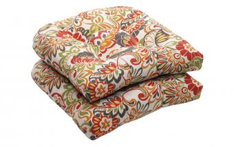 Floral Wicker Seat Cushions