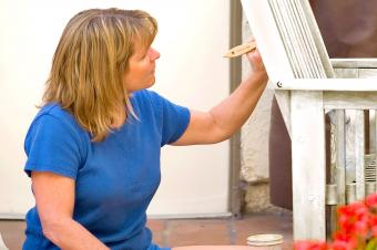 How to Use Paint to Touch Up Patio Furniture