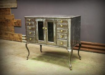 Antique Apothecary Medical 10 Drawer Dental Cabinet