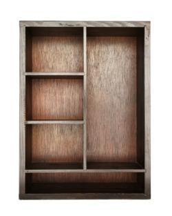 Interior of a Bookcase Armoire