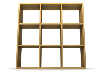 Open Back Shelving Unit
