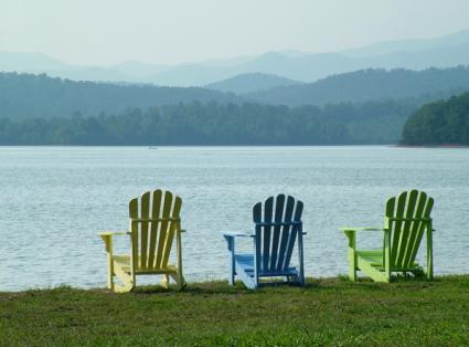 Adirondack chairs are a simple style to start building your own furnishings