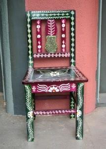 A beautiful hand painted Southwest style chair