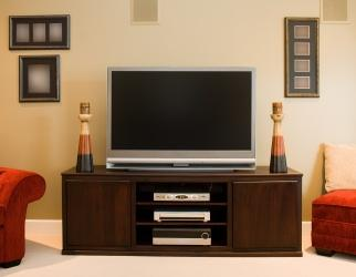 Tv stand plans lovetoknow Design your own tv room