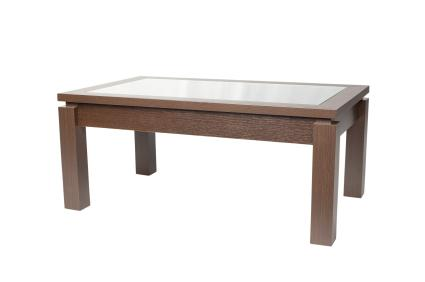 A rectangular coffee table