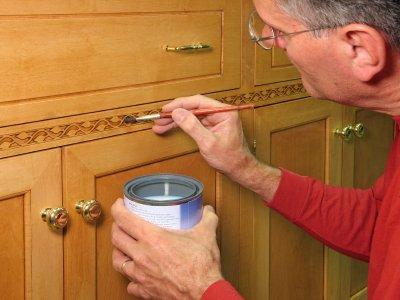 Refinishing a cabinet
