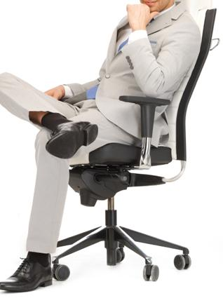 Business man sitting comfortably in an office chair