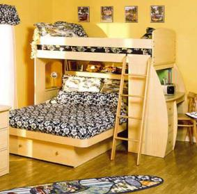 Children's loft bed from A Baby