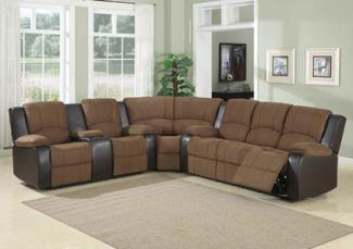 AC Pacific Peter Dual Reclining Sectional