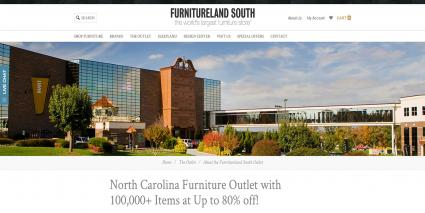Screenshot of Furnitureland South - website
