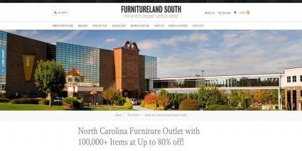 Screenshot Of Furnitureland South   Website