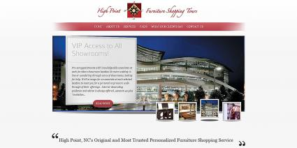 Screenshot of High Point Furniture Shopping Tours website