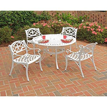 5-Piece Dining Set with Round Table and Arm Chair