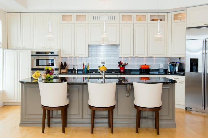 Modern kitchen counter bar