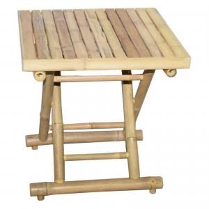 Bamboo Square 18 in. Folding Side Table