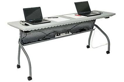 Flip Top Training Table with Modesty Panel