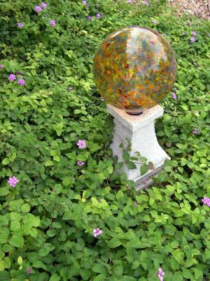 gazing orb in garden