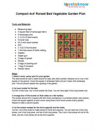 Compact vegetable garden plan
