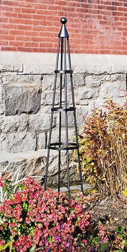 Achla Wrought Iron Garden Obelisk
