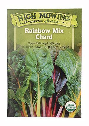 High Mowing Organic Rainbow Mix Chard Seeds