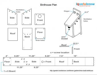 Click to open and print the birdhouse plans.