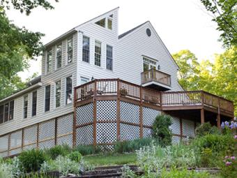 Raised Backyard Deck