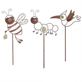 Whimsical Garden Critter Stakes at Amazon