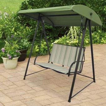 Mainstays Green Stripe Sling Outdoor Swing
