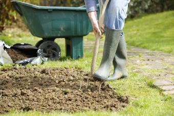 Gardener Forking A Patch In the Garden