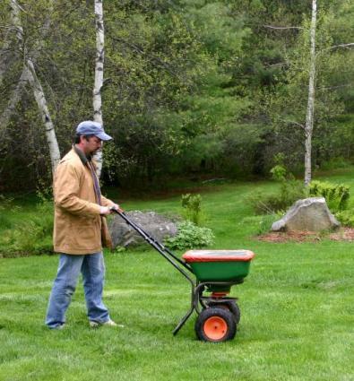 broadcast fertilizing