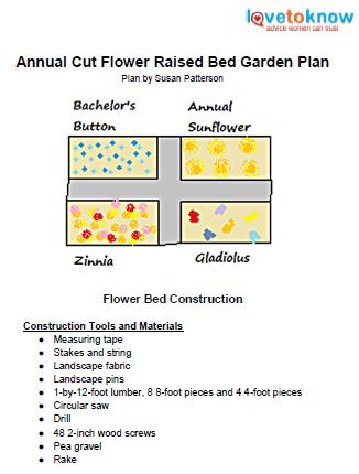 annual cut flower garden plan