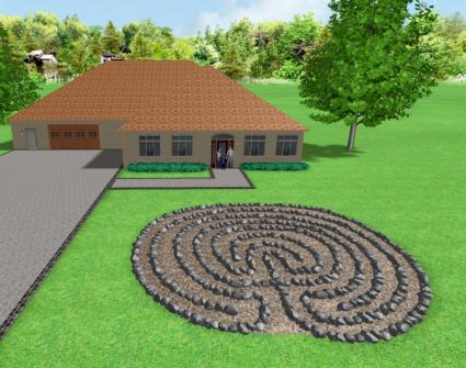 Garden labyrinth designs lovetoknow for Garden labyrinth designs
