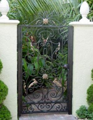 Attractive Tropical Escape Ornamental Garden Gate