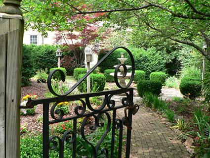 enchanting entry to private garden