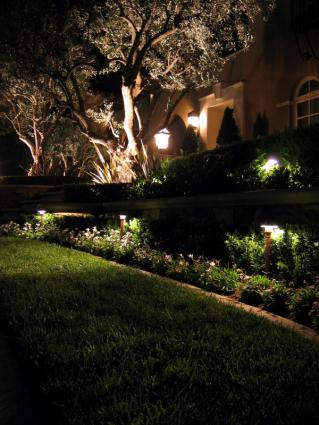 dramatic outdoor lighting